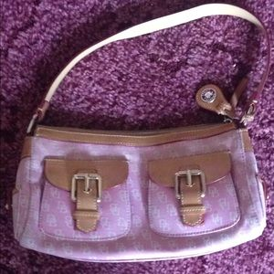 & Bourke small pink bag.